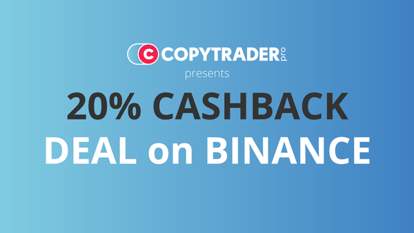 Get 20% cashback on all your fees on Binance